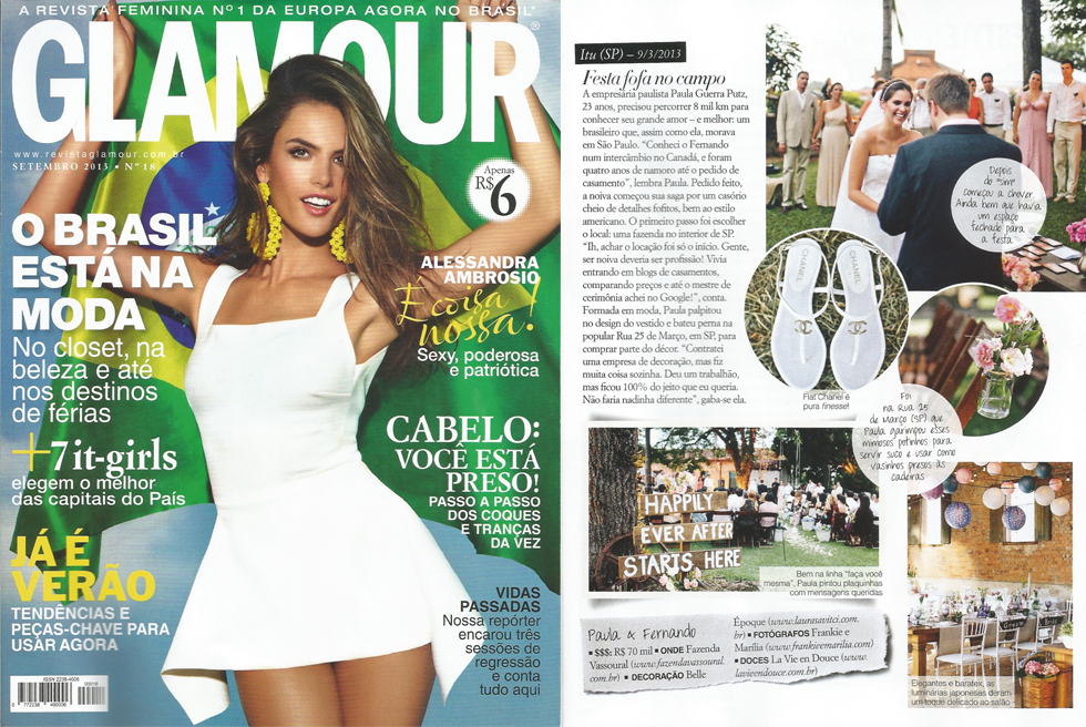 Revista Glamour | Setembro 2013 | Casamentos | Mini-weddings | Frankie e Marilia
