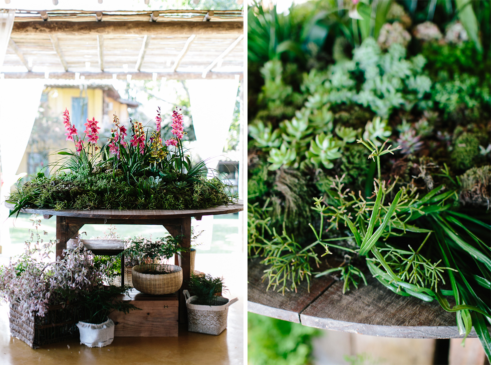 Succulent table | Brazilian Island Detail-filled Wedding | Frankie e Marilia