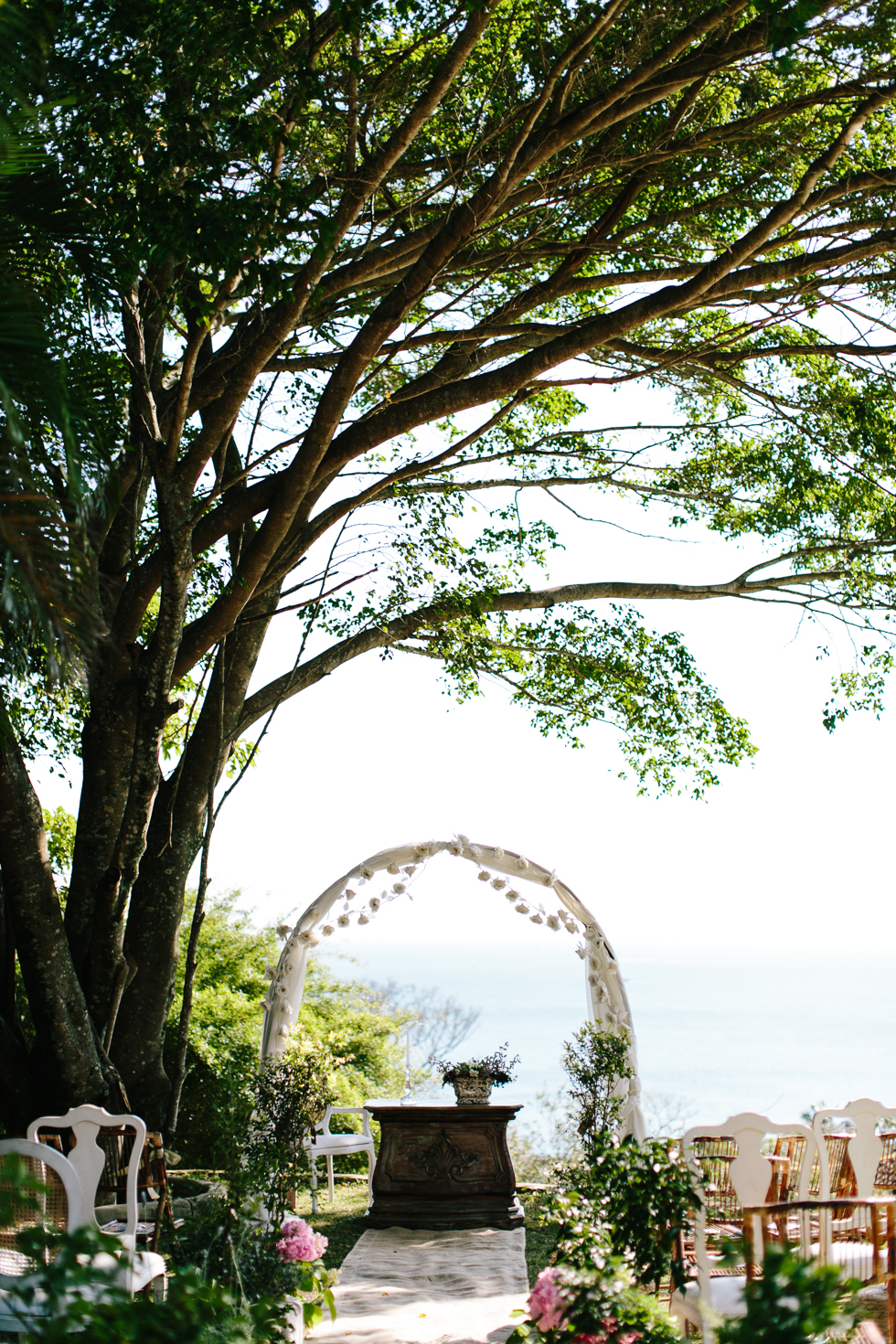 What a view for a Ceremony | Brazilian Island Detail-filled Wedding | Frankie e Marilia