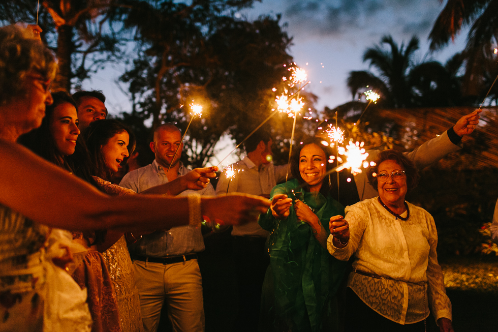 Sparklers | Brazilian Island Detail-filled Wedding | Frankie e Marilia