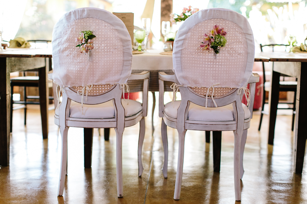 Bride and groom's chair details | Brazilian Island Detail-filled Wedding | Frankie e Marilia