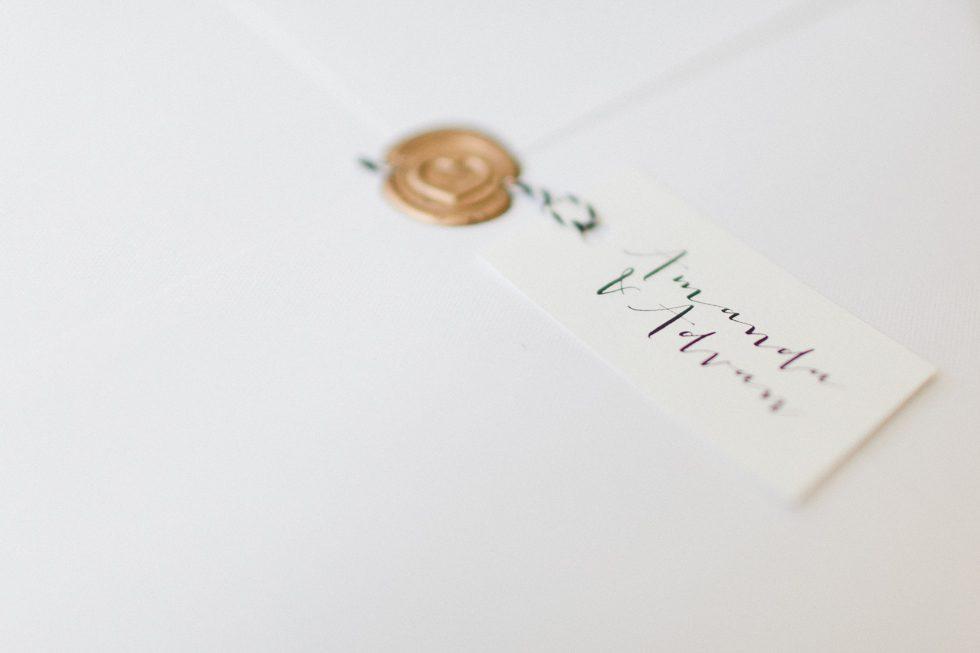 Beautiful and delicate invitation