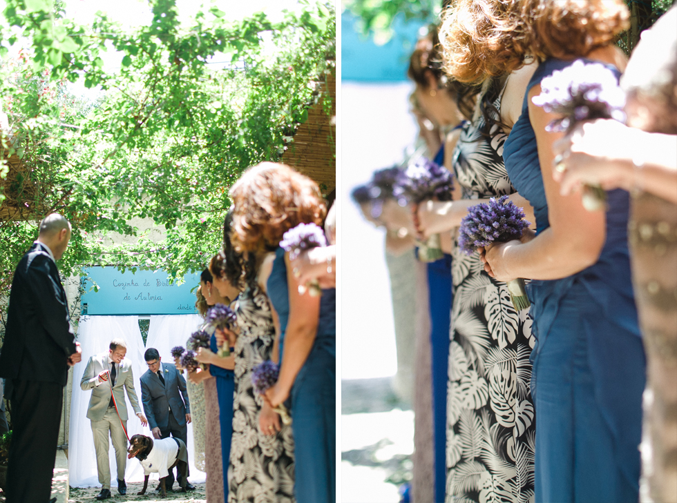 Oh my, what a charming bistro wedding with two charming grooms and their cute dogs (Photos by Frankie & Marilia) (28)