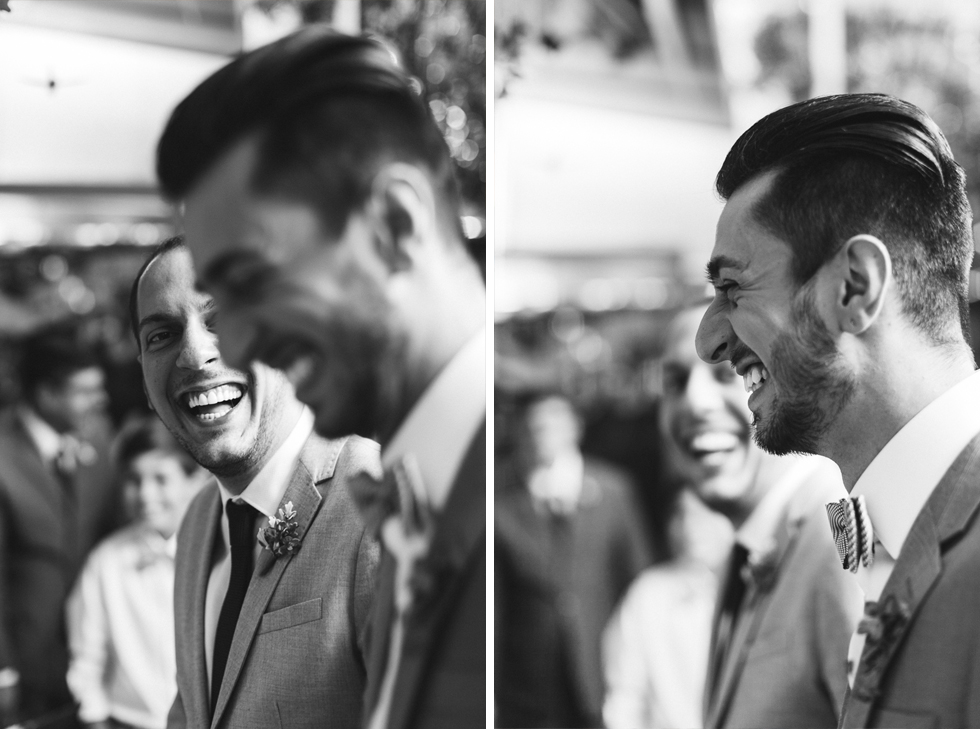 Oh my, what a charming bistro wedding with two charming grooms and their cute dogs (Photos by Frankie & Marilia) (31)