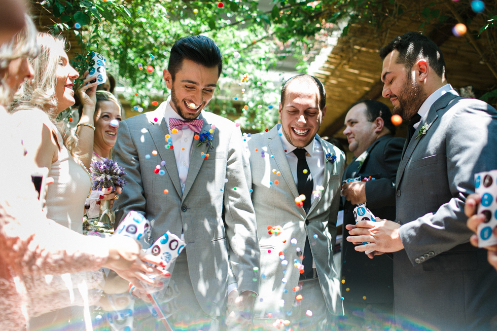 Oh my, what a charming bistro wedding with two charming grooms and their cute dogs (Photos by Frankie & Marilia) (45)