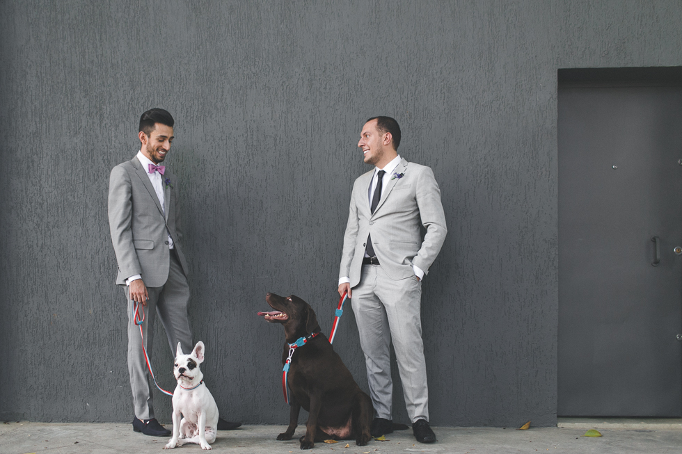 Oh my, what a charming bistro wedding with two charming grooms and their cute dogs (Photos by Frankie & Marilia) (47)