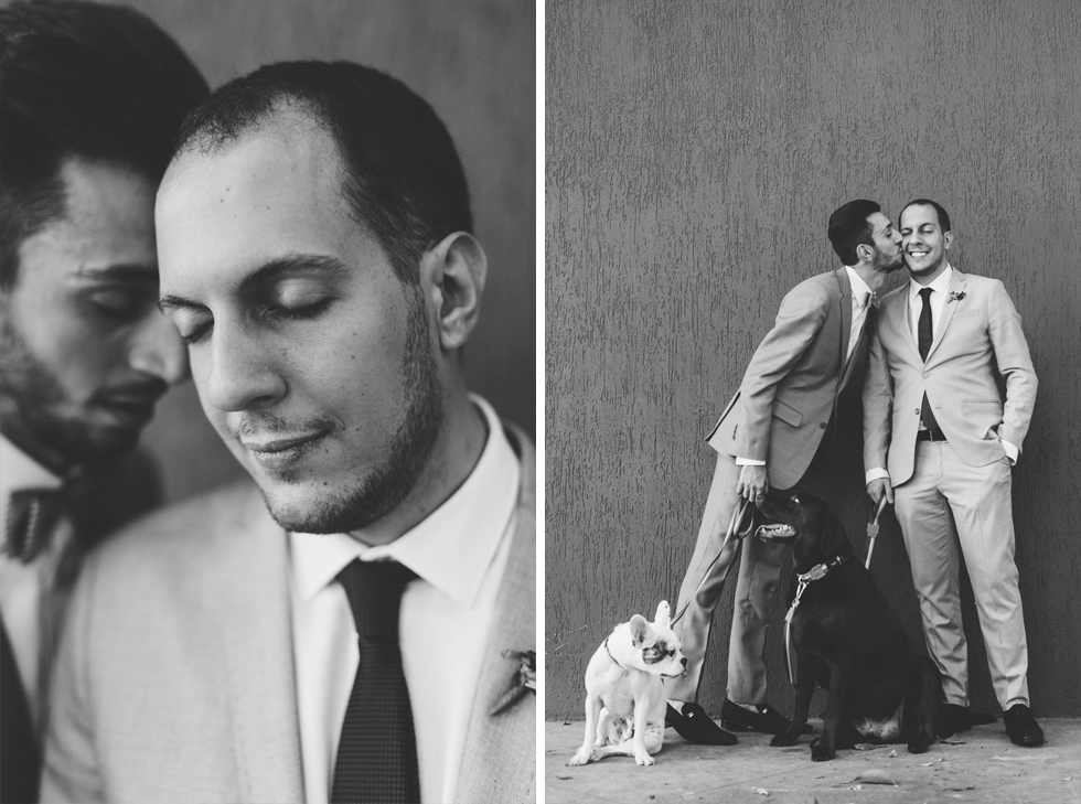 Oh my, what a charming bistro wedding with two charming grooms and their cute dogs (Photos by Frankie & Marilia) (51)